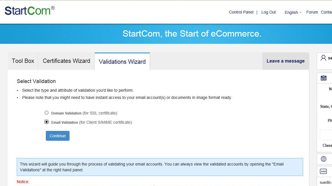 Verlängern eines StartSSL™ Free (Class 1) SSL Zertifikat – small-blog.de